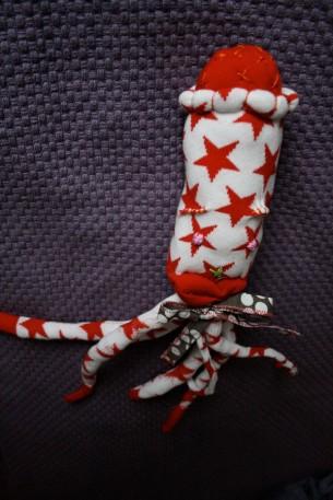 Make a sock creature octopus!