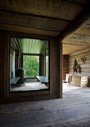 I built my sauna in a house from 1824 that is standing on our grounds in Dalarna. Click on title or the photo's to see it all!