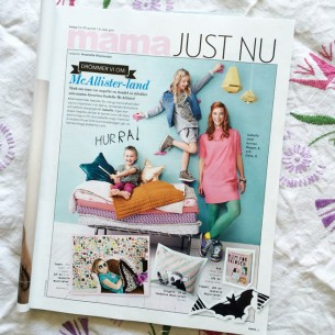 The magazine Mama is kind to write about all the stuff I've been making lately - like my book, my wallpaper designs and the kids collection for Ellos!